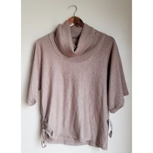 Cowl Neck Mid Sleeve Brown Sweater